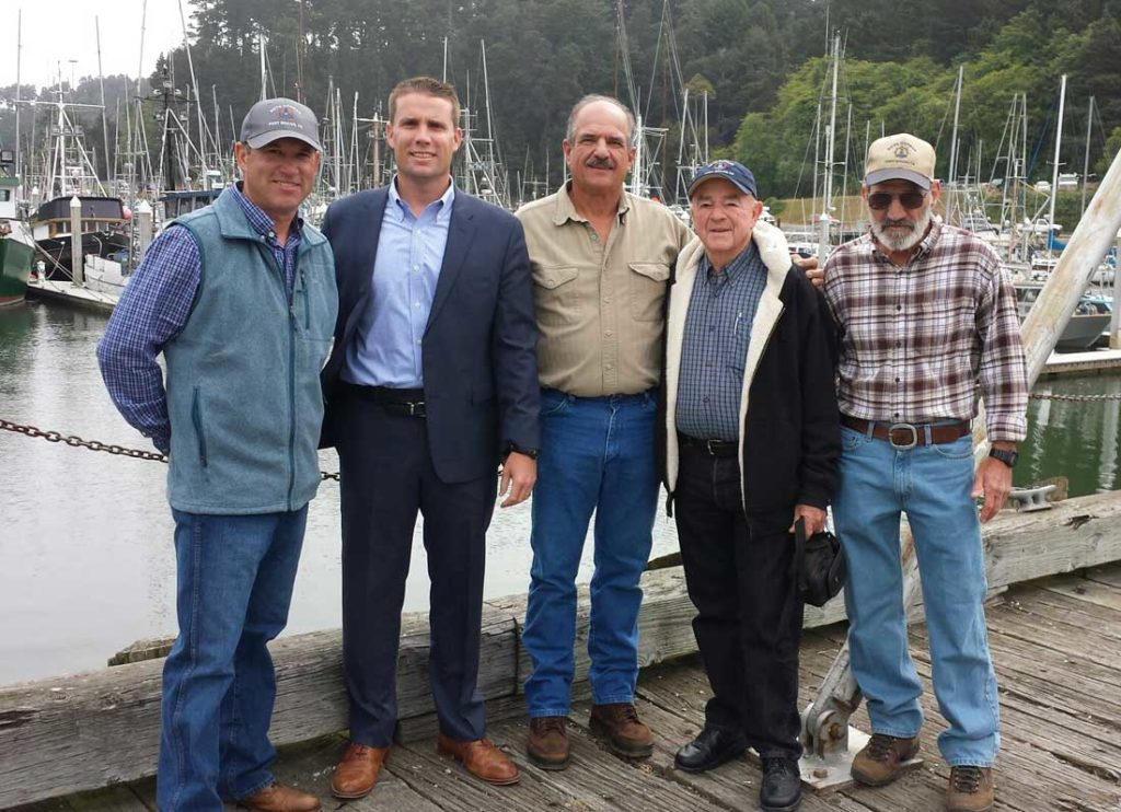 Senator Mike McGuire visits Noyo Harbor, June 2016